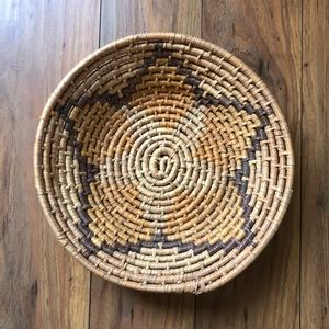 Vintage Woven Boho Mexican Basket Wall Decor